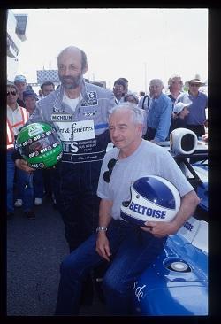 24-HEURES-DU-MANS-Les-deux-pilotes-MATRA-Henri-PESCAROLO-et-Jean-Pierre-BELTOISE-Photo-ACO-en-1994