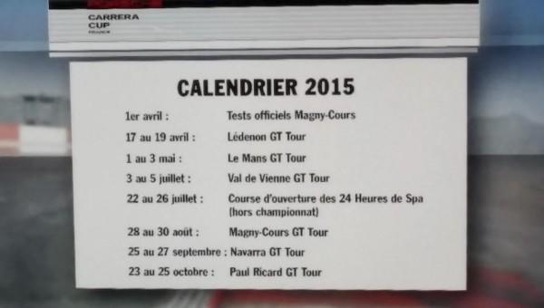 CARRERA CUP 2014 REMISE DES PRIX Bermuda Onion PARIS Le 13 Janvier 2015   LE CALENDRIER 2015