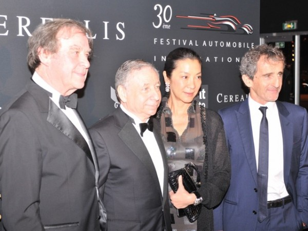 FESTIVAL DE PARIS Jean-Michel Wilmotte accueille Jean Todt - Michelle Yeoh et Alain Prost.j