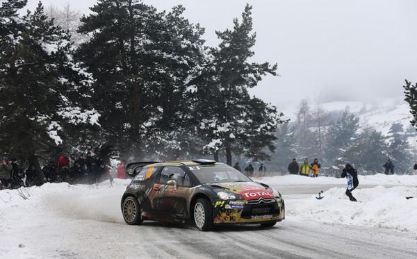 MONTE CARLO 2015- DS3 WRC de Sébastien CHARDONNET-Thibault DE LA HAYE.