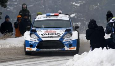 MONTE CARLO 2015 La FORD FIESTA WRC2 de Julien MAURIN et Nicolas KLINGER