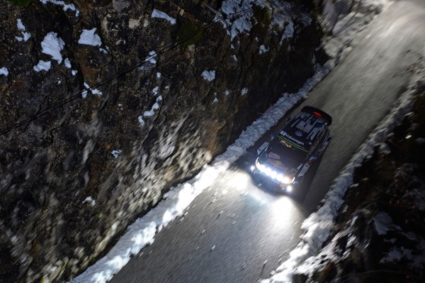 MONTE CARLO 2015- Les vainqueurs Sebastien OGIER et Julien INGRASSIA avec leur VW POLO WRC