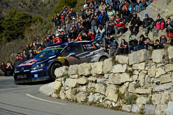 MONTE CARLO 2015- Les vainqueurs Sebastien OGIER et Julien INGRASSIA terminent la derniere Speciale dimanche 25 janvier
