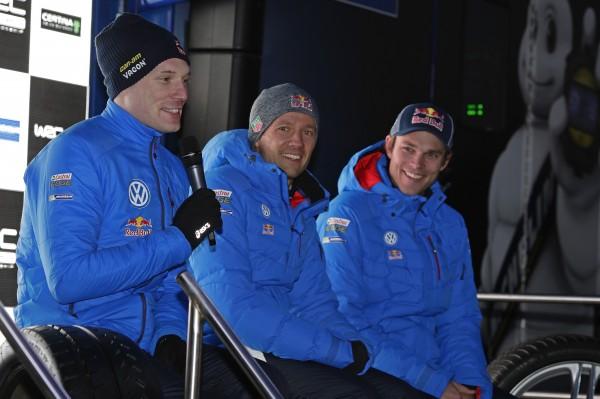 MONTE CARLO 2015 - Portrait des trois pilotes du TEAM VOLKSWAGEN LATVALA-OGIER-MIKKELSEN.