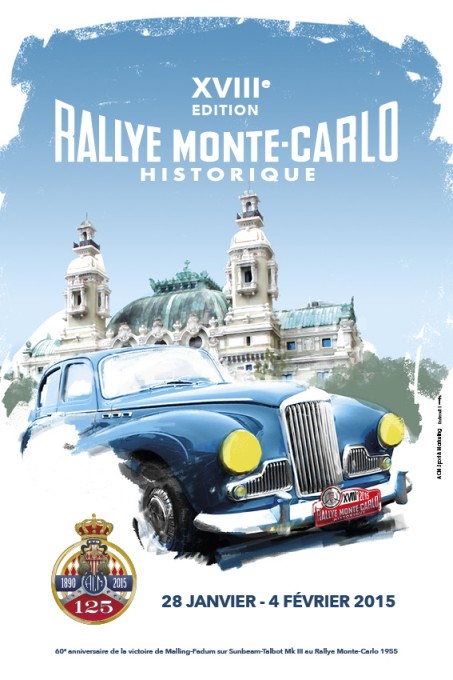 MONTE CARLO HISTORIQUE 2015 Affiche
