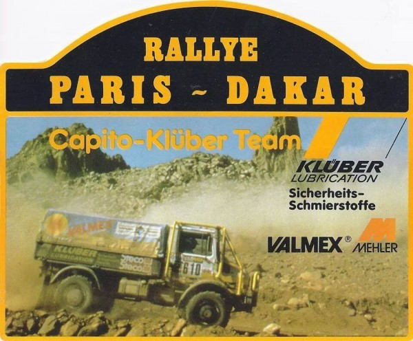 PARIS-DAKAR-1985-UNIMOG-MERCEDES-Team-CAPITO