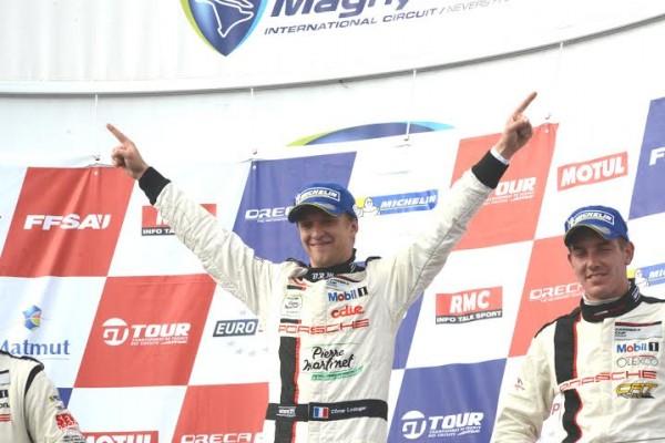 PORSCHE-CARRERA-CUP-2014-MAGNY-COURS-Come-LEDOGAR-le-double-vainqueur-des-deux-courses-Photo-Claude-MOLINIER.