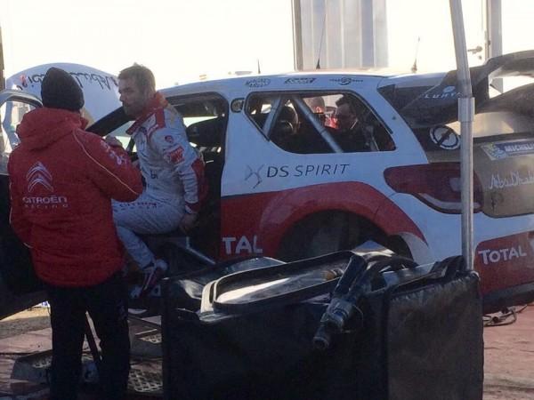 WRC-2015-MONTE-CARLO-LOEB-en-essai-dans-le-DEVOLUY-le-vendredi-10-Janvier. Photo Jose GARRIDO