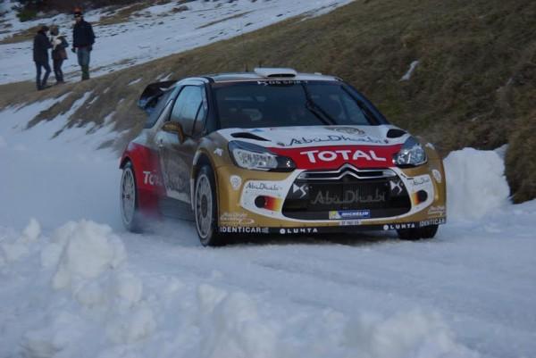 WRC 2015 MONTE CARLO Test LOEB CITROEN au Col du NOYER photo Gregory