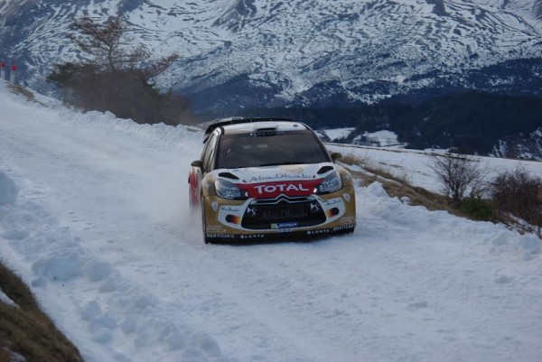 WRC-2015-MONTE-CARLO-Test-Seb-LOEB-CITROEN-au-Col-du-NOYER-photo Gregory PERROT