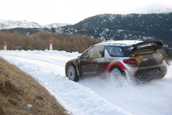 WRC-2015-MONTE-CARLO-Test-Seb-LOEB-DS3-CITROEN-au-Col-du-NOYER-photo Gregory PERROT