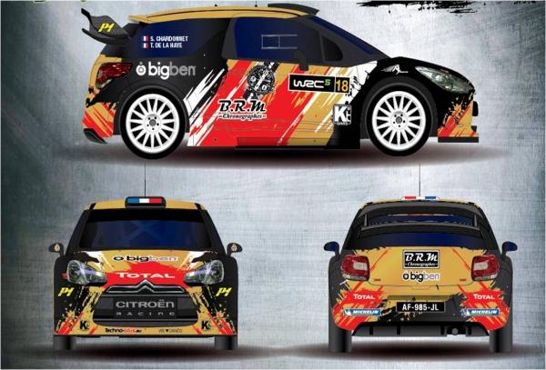 WRC 2015 MONTE CARLO la Deco de la DS3 de Sebastien CHARDONNET