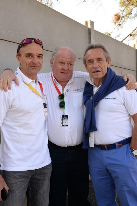Jacky ICKX avec ingénieuer Hugues BAUDE et Gilles GAIGNAULT -Photo Antoine CAMBLOR