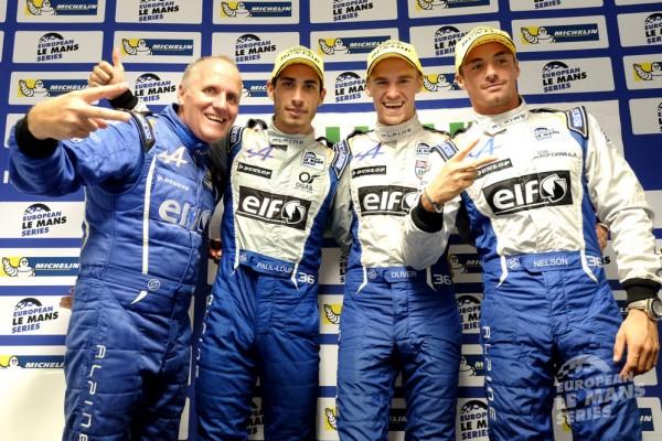 ELMS-2014-ESTORIL-LES-pilotes-ALPINE-SIGNATECH-Nelson-PANCIATICI-Oliver-WRBB-et-PAUL-LOUP-CHATIN-et-Philippe-SINAULT-CHAMPIONS-D-EUROPE-2014.