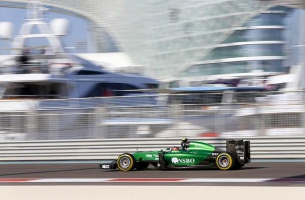 F1 2014 La CATERHAM RENAULT de Will STEVENS A YAS MARINA au GP ABOU DHABI.j