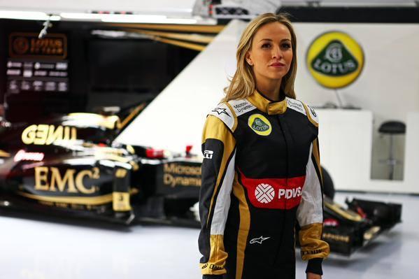 F1 2015 CARMEN TJORDA Pilote de developpement cchez LOTUS.