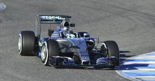 F1 2015 JEREZ Dimanche 1er fevrier - La MERCEDES de Nico ROSBERG plus rapide dimanche matin- Photo Max MALKa