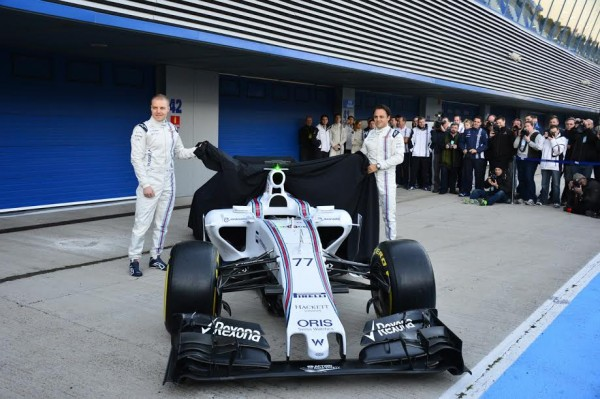 F1-2015-JEREZ-La-Presentation-du-Team-WILLIAMS-MERCEDES-Photo-Max-MALKA.