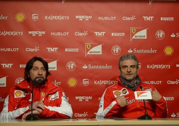 F1-2015-MONTMELO-20-janvier-SCUDERIA-FERRARI- Conférence de MAURIZIO-ARRIVABENE-Photo-Antoine-CAMBLOR