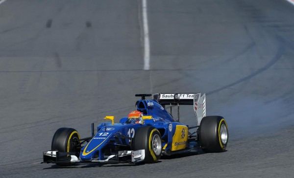 F1 2015 MONTMELO - Test 22 février -NASR - Photo Antoine CAMBLOR.