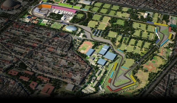 F1 LE FUTUR circuit du GP du MEXIQUE de F1 2015 à MEXICO