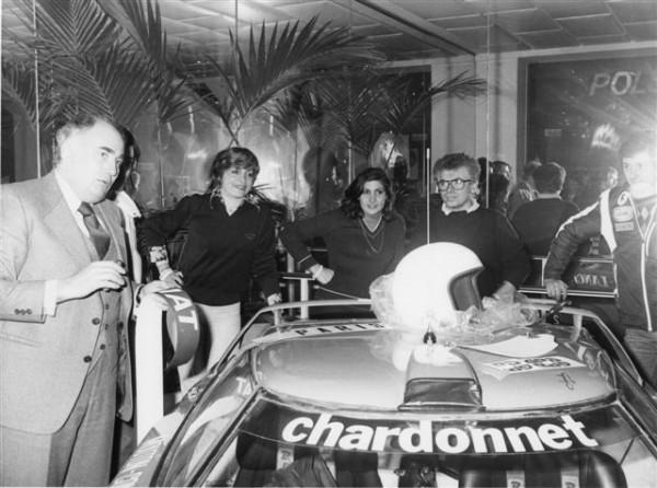 JACQUES-FOULON-avec-Michele-MOUTON-et-Francoise-CONCONI-Présentation-Rallye-MONTE-CARLO-1978