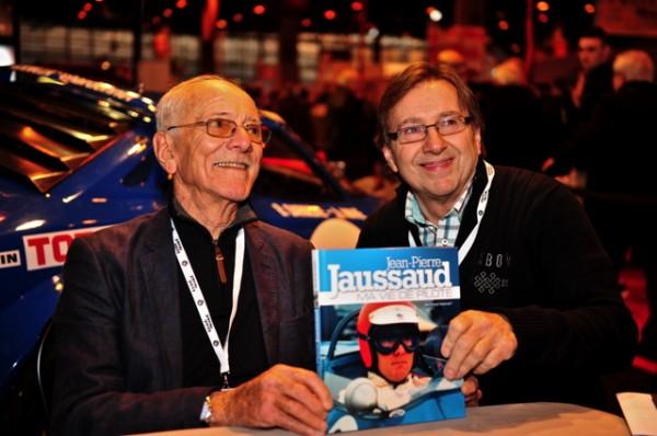 JEAN-PIERRE-JAUSSAUD et PATRICEV MOINET avec le livre '' MA VIE DE PILOTE''