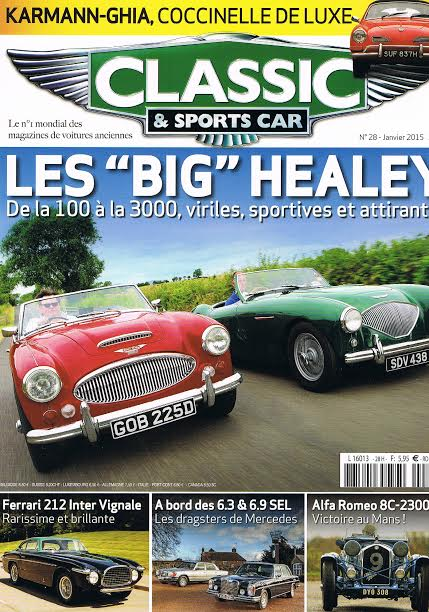 MAGAZINE CLASSIC SPORTS CAR Janvier 2015