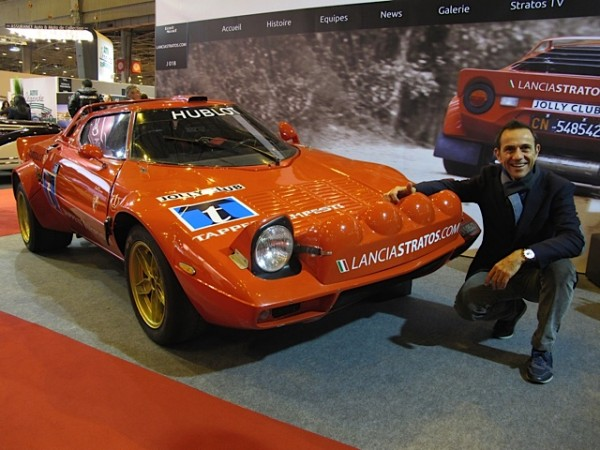 RETROMOBILE-2015-Stand-LANCIA-STRATOS-avec-Eric-COMAS-Photo-Thierry-THOMASSIN