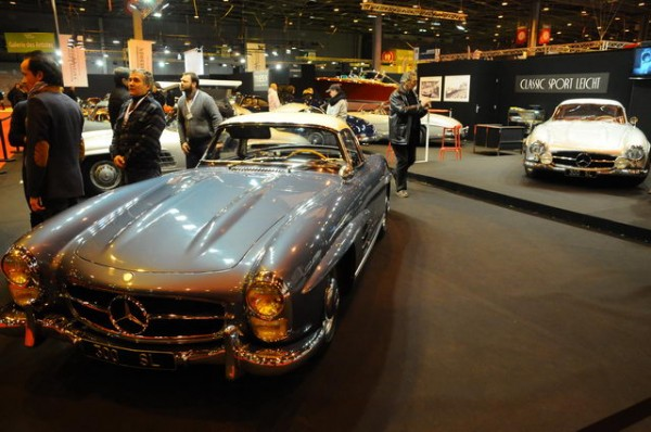 SALON-RETROMOBILE-2015-Stand-MERCEDES-300-SL-Mercedes-Classic-Sport-Leicht-Photo-Patrick-MARTINOLI