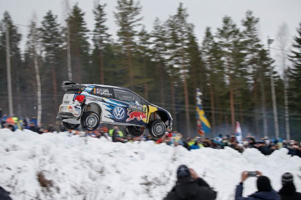 WRC 2015 SUEDE Seb OGIER FILE VERS LA VICTOIRE dans la POWER STAGE Dimanche 15 fevrier avec sa POLO WRC.