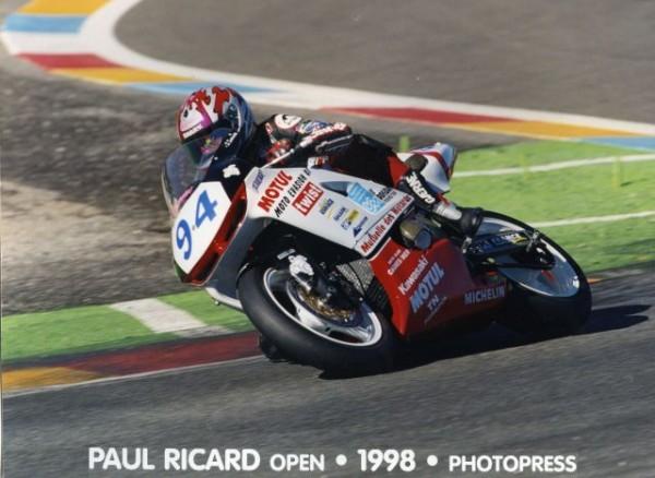 GUYOT CHAMPION DE FRANCE SBK EN 1998