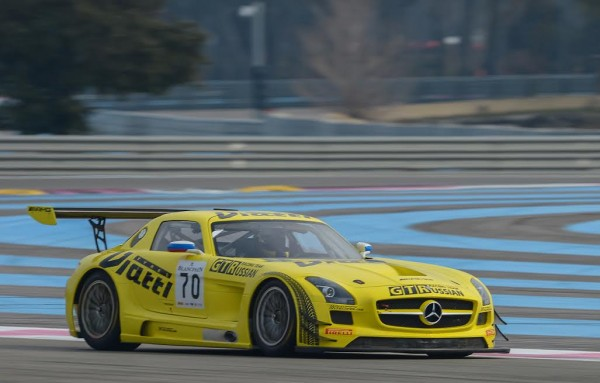 BLANCPAIN-2015-PAUL-RICARD-Essai-GT-Russian-Team-Mercedes-SLS-AMG-GT3. 12 mars 2015