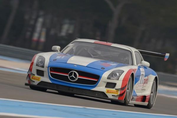 BLANCPAIN-2015-PAUL-RICARD-Essai-PRO-AM-CUP-GT-Russian-Team-Mercedes-SLS-AMG-GT3. 12 mars 2015