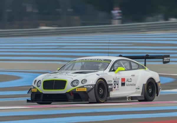 BLANCPAIN-2015-PAUL-RICARED-Essai-PRO-CUP-Bentley-Team-HTP-Bentley-Continental-GT3 avec Vincent ABRIL  - Photo Antoine CAMBLOR