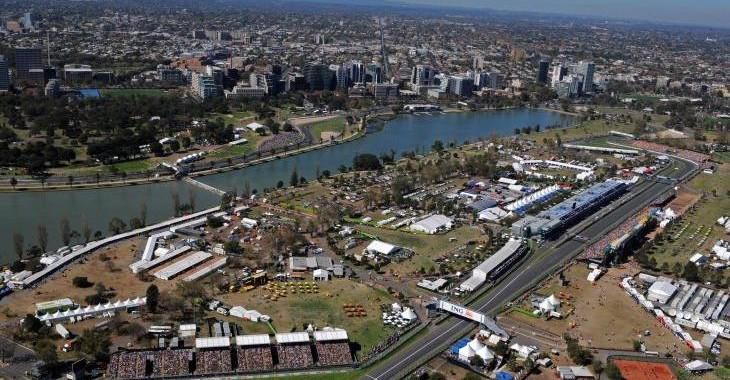 F1 2014 AUSTRALIE - Le circuit de l ALBERT PARK a MELBOURNE vue aerienne.j