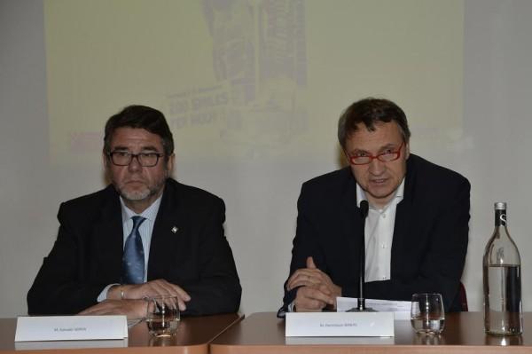 F1-2015-Conférence-de-presse-GP-ESPAGNE-a-PARIS-au-siège-FFSA-Salvador-SERVIA-Directeur-du-circuit-de-CATALUNYA-a-MONTMELO-et-Dominique-SERYES-DIrecteur-de-la-FFSA-Photo-Max-MALKA