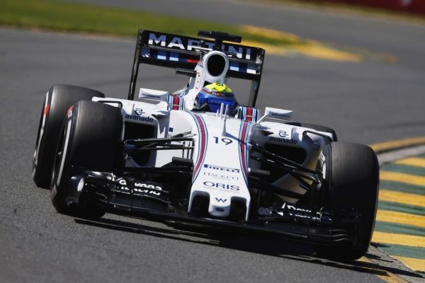 F1 2015 La WILLIAMS MERCEDES de FELIPE MASSA termine 4éme