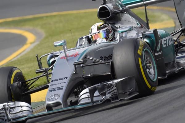 F1 2015 -MELBOURNE GP AUSTRALIE-   La MERCEDES de LEWIS HAMILTON.