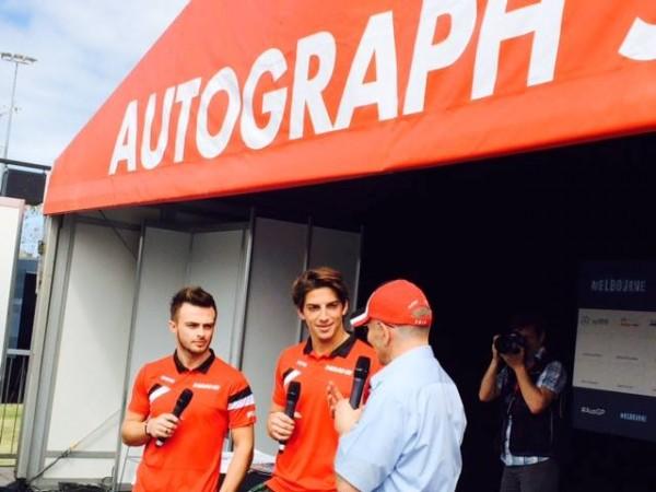 F1-2015-MELBOURNE-Les-deux-pilotes-MANOR-Robero-MEHRI-et-Will-STEVENS-en-interview-avec-Niki-LAUDA