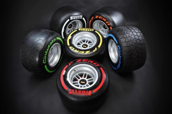 PIRELLI F1 2013 la gamme des couleurs
