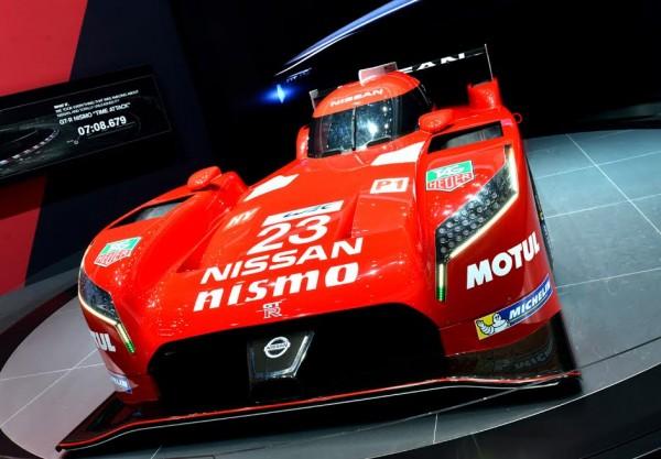 SALON DE GENEVE 2015 - La NISSAN GT R LM NISMO sur le stand de la marque - Photo Claude MOLINIER