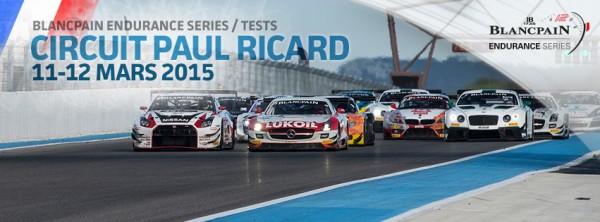 TROPHEE BLANCPAIN 2015  Essai du CIRCUIT PAUL RICARD affiche