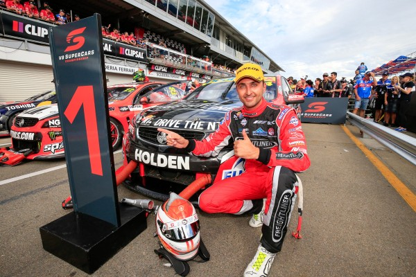V8 SUPERCAR 2015 CLIPSAL 500 ADELAIDE FABIAN COULTHARD 1er de la seconde course