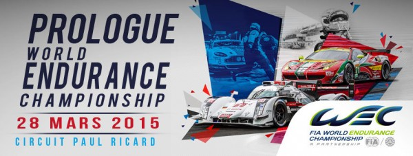 WEC 2015 Test Le prologue Affiche