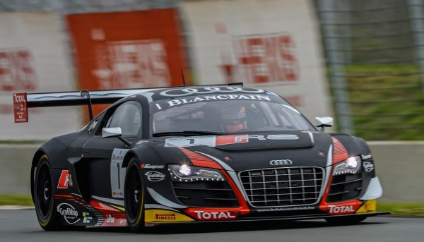 BLANCPAIN SPRINT 2015 - NOGARO 4 avril -AUDI R8 Team WRT   N°1   -  Photo Antoine CAMBLOR