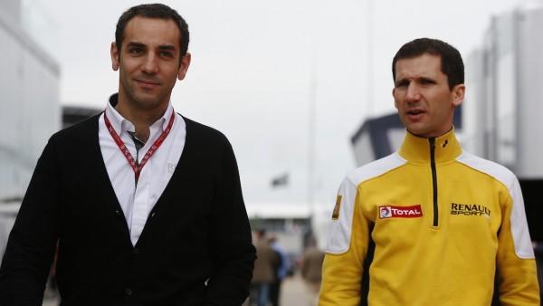 F1 2015 Cyril ABITEBOUL et Remi TASSIN. RENAULT SPORT F