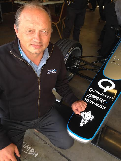FORMULE E 2014 Fred VASSEUR a DONINGTON - Photo autonewsinfo.