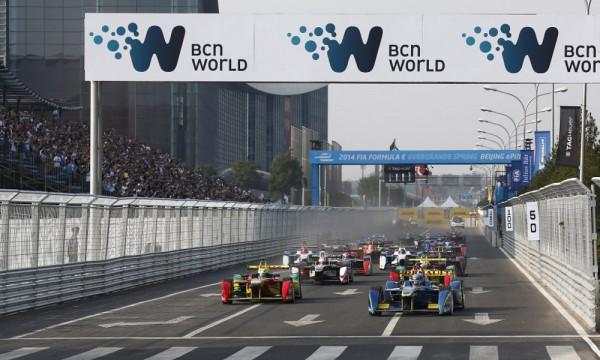 FORMULE-E-2014-Le départ de la 1ére course a PEKIN