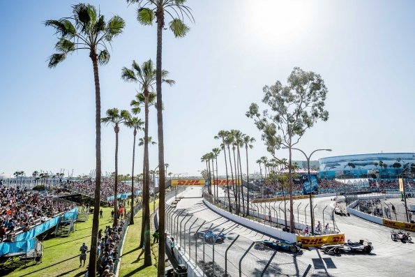 La  FORMULE-E 2015-A LONG BEACH en CALIFORNIE aux USA le 4 avril